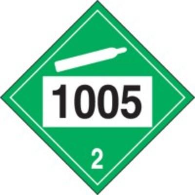 Hazard Class 2 - 1005 Ammonia, Anhydrous, Liquefied 4-Digit DOT Placard