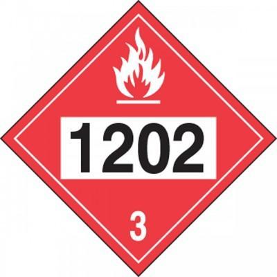 Hazard Class 3 - 1202 Diesel Fuel 4-Digit DOT Placard