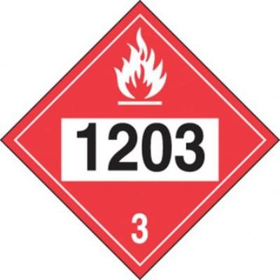 Hazard Class 3 - 1203 Gasoline 4-Digit DOT Placard