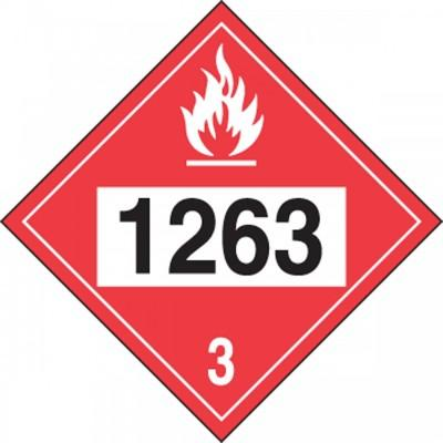 Hazard Class 3 - 1263 Paint 4-Digit DOT Placard