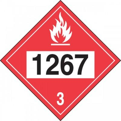 Hazard Class 3 - 1267 Crude Oil 4-Digit DOT Placard
