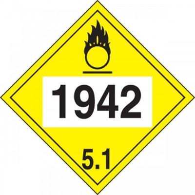 Hazard Class 5 - 1942 Ammonium Nitrate 4-Digit DOT Placard