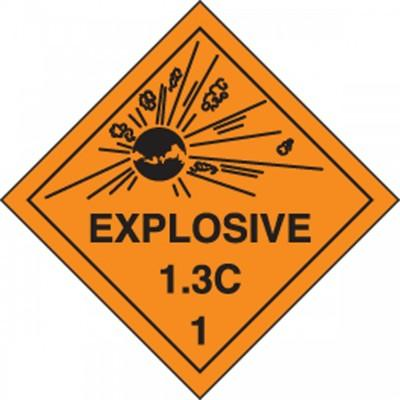 Hazard Class 1 - Explosive 1.3C DOT Shipping Label