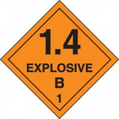Hazard Class 1 - Explosive 1.4B DOT Shipping Label
