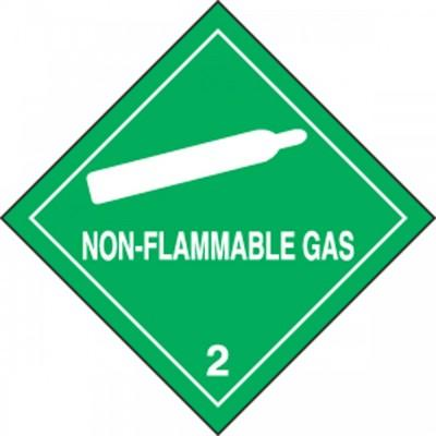 Hazard Class 2 - Non-Flammable Gas DOT Shipping Label
