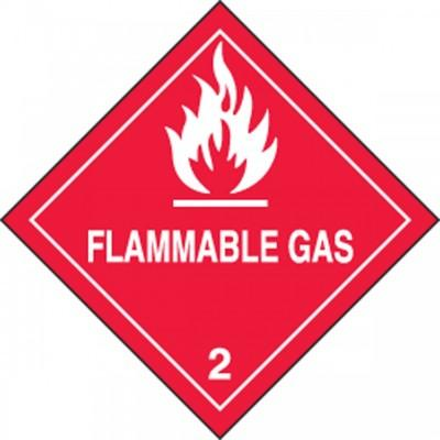 Hazard Class 2 - Flammable Gas DOT Shipping Label