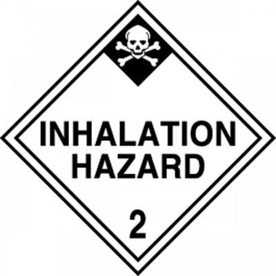 Hazard Class 2 - Inhalation Hazard DOT Shipping Label