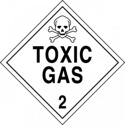 Hazard Class 2 - Toxic Gas DOT Shipping Label
