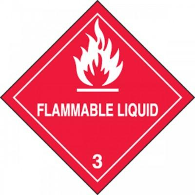 Hazard Class 3 - Flammable Liquid DOT Shipping Label