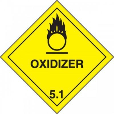 Hazard Class 5 - Oxidizer DOT Shipping Label