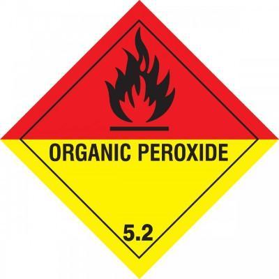 Hazard Class 5 - Organic Peroxide DOT Shipping Label