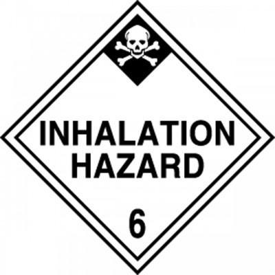 Hazard Class 6 - Inhalation Hazard DOT Shipping Label