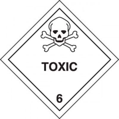 Hazard Class 6 - Toxic DOT Shipping Label