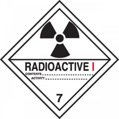 Hazard Class 7 - Radioactive DOT Shipping Label