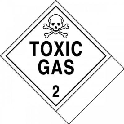 Hazard Class 2 - Toxic Gas DOT Label w/ID Tab