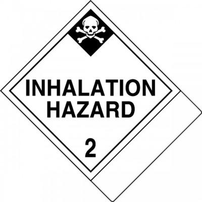 Hazard Class 2 - Inhalation Hazard DOT Label w/ID Tab