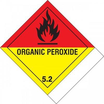 Hazard Class 5 - Organic Peroxide DOT Label w/ID Tab