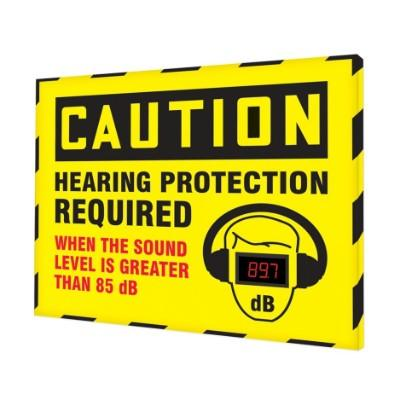 Caution - Hearing Protection Required Greater Than 85dB OSHA Decibel Meter Sign