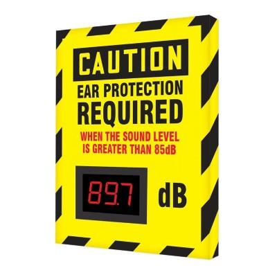 Caution - Ear Protection Required Greater Than 85dB OSHA Decibel Meter Sign