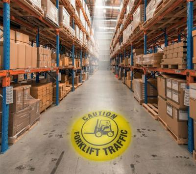 Caution - Forklift Traffic - LED Sign Projector