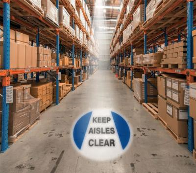 Keep Aisles Clear - LED Sign Projector