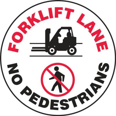 Forklift Lane, No Pedestrians - LED Projector Lens