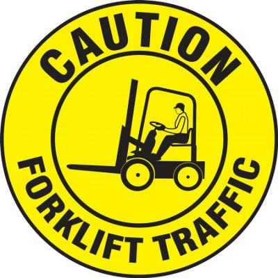 Caution - Forklift Traffic - LED Projector Lens