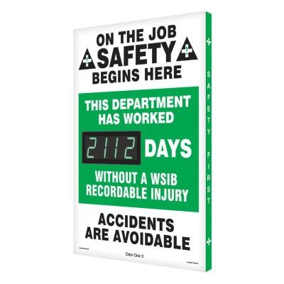 On the Job Safety Begins Here _ Days Without a WSIB Injury Safety Scoreboard