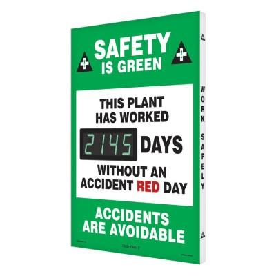 Safety Is Green - This Plant Has Worked _ Days Safety Scoreboard