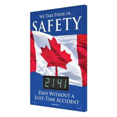 We Take Pride in Safety _ Days Without a Lost Time Accident Safety Scoreboard