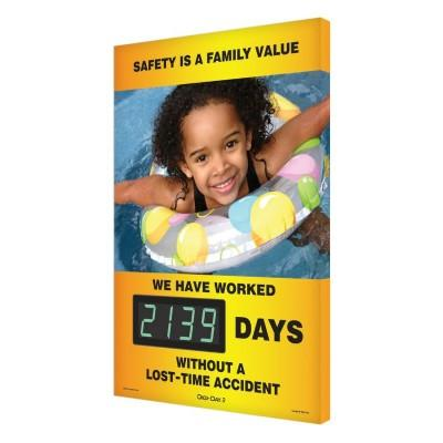 Safety is a Family Value _ Days Without a Lost Time Accident Safety Scoreboard