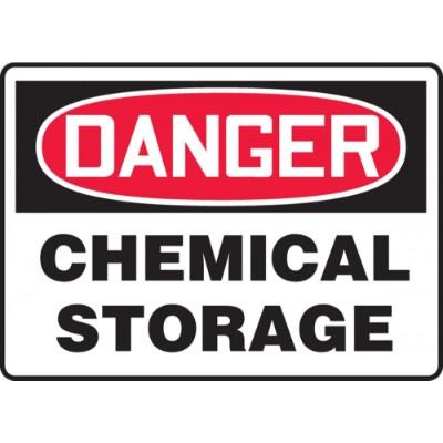 Danger - Chemical Storage OSHA HazMat Sign