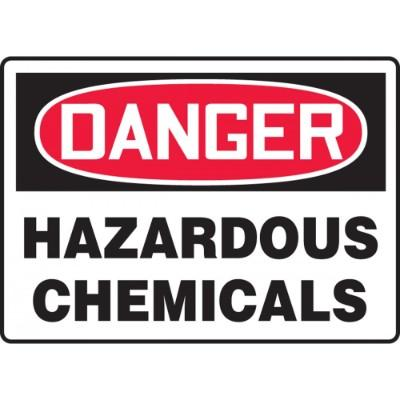 Danger - Hazardous Chemicals OSHA HazMat Sign