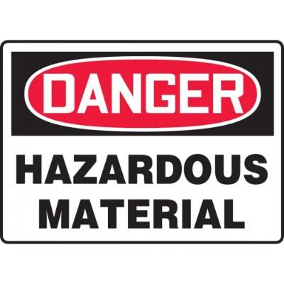 Danger - Hazardous Material OSHA HazMat Sign