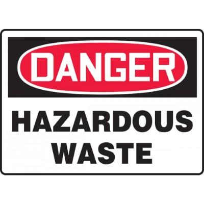 Danger - Hazardous Waste OSHA HazMat Sign