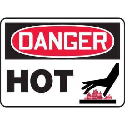 Danger - Hot (Graphic) OSHA HazMat Sign