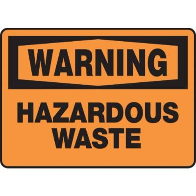 Warning - Hazardous Waste OSHA HazMat Sign