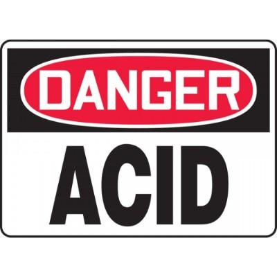 Danger - Acid OSHA Chemical Sign