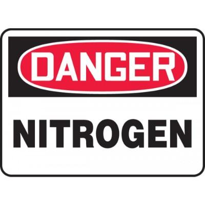 Danger - Nitrogen OSHA Chemical Sign