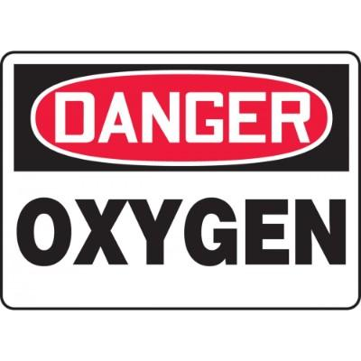 Danger - Oxygen OSHA Chemical Sign