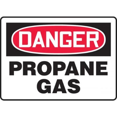 Danger - Propane Gas OSHA Chemical Sign