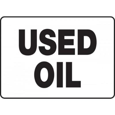 Used Oil Chemical Sign