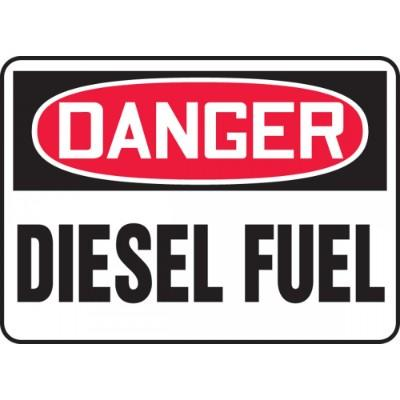 Danger - Diesel Fuel OSHA Chemical Sign