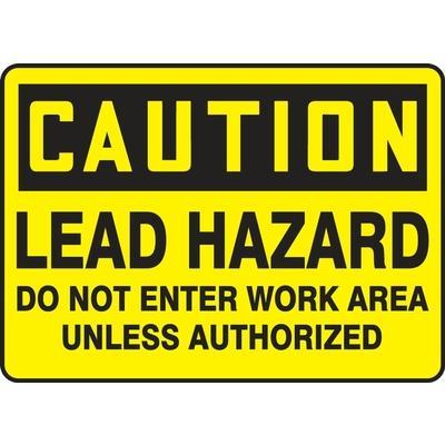 Caution - Lead Hazard Do Not Enter OSHA HazMat Sign