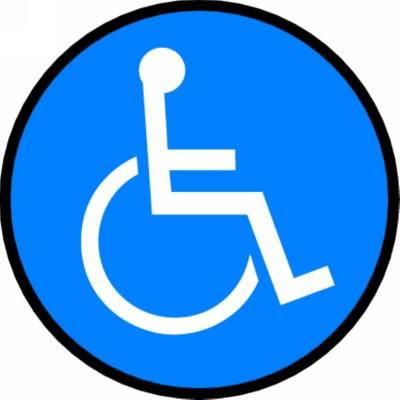 Handicap Symbol - Adhesive Floor Sign