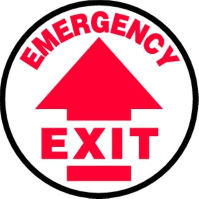 Emergency Exit - Adhesive Floor Sign