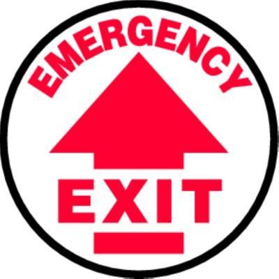 Emergency Exit - Adhesive Floor Sign