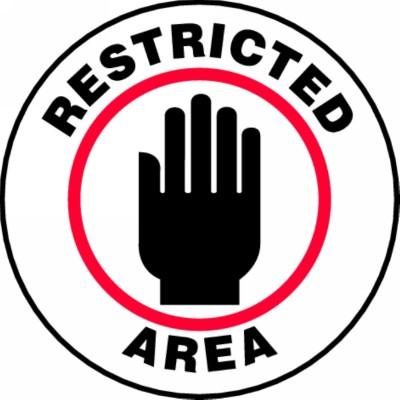 Restricted Area - Adhesive Floor Sign