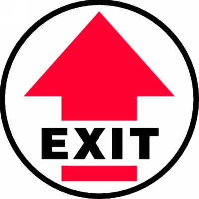 Exit - Adhesive Floor Sign