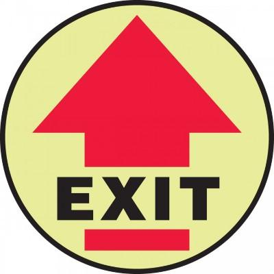 Exit - Glow Adhesive Floor Sign